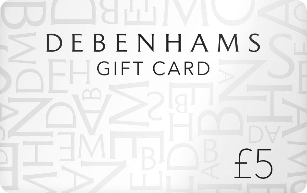 Includes free £5 Debenhams gift card